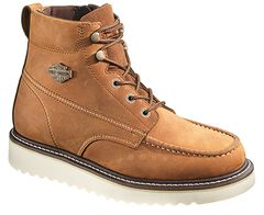 Harley Davidson Men's Brown Beau Lace-Up Boots, , hi-res