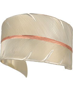 """Montana Silversmiths Two Tone """"To Fly with Strength and Grace"""" Cuff Bracelet, , hi-res"""