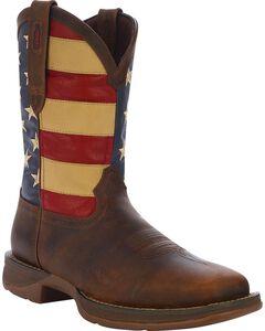 Durango Rebel American Flag Cowboy Boots - Square Toe, , hi-res