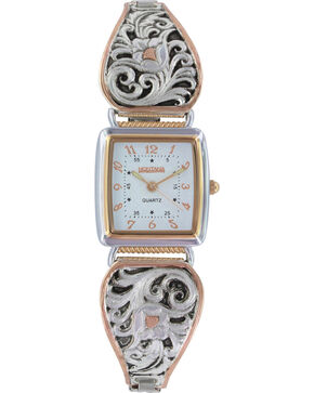 Montana Silversmiths Women's LeatherCut Rose Gold Expansion Band Watch, Multi, hi-res