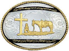 Montana Silversmiths Christian Cowboy Western Belt Buckle, , hi-res
