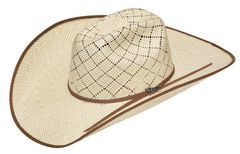 Twister 10X Shantung Bound Edge Maverick Straw Cowboy Hat, , hi-res