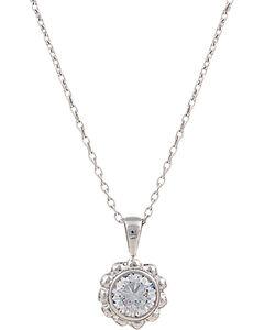 Montana Silversmiths Women's Star Lights Flowered Star Necklace, , hi-res