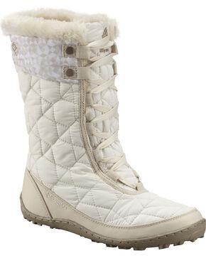 Columbia Women's Minx Mid II Omni-Heat Print Winter Boots, Salt, hi-res