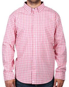 Cody James Men's Check Patterned Long Sleeve Shirt, Peach, hi-res