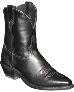 "Abilene Black 7"" Cowgirl Boots - Snip Toe , , hi-res"