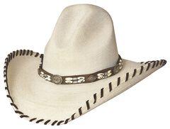 Bullhide The Last Chief Panama Straw Cowboy Hat, , hi-res