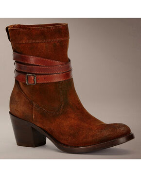 Frye Jane Strappy Short Boots, Brown, hi-res