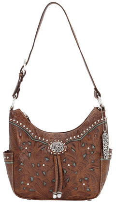 American West Lady Leather Hobo Bag, , hi-res