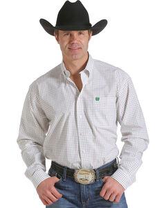 Cinch Men's White Open Plaid Western Shirt , , hi-res