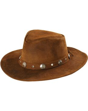 Minnetonka Buffalo Nickel Band Outback Hat, Brown, hi-res