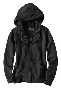 Carhartt Clarksburg Zip-Front Hooded Sweatshirt, , hi-res