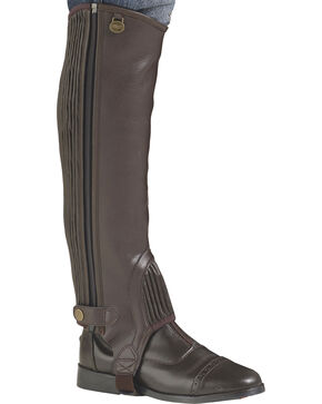 Ovation Kids' EquiStretch II Half Chaps, Brown, hi-res