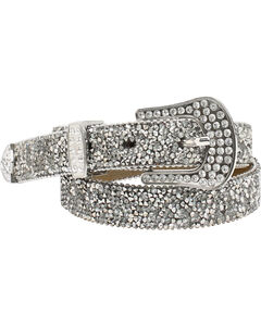 "Ariat 1"" Cluster Crystall Rhinestone Belt, , hi-res"