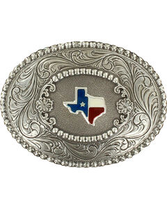 Oval Texas Buckle, Silver, hi-res