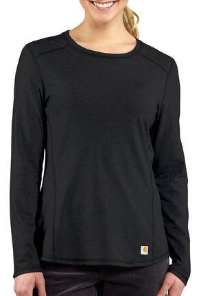 Carhartt Force Long Sleeve Top, Black, hi-res
