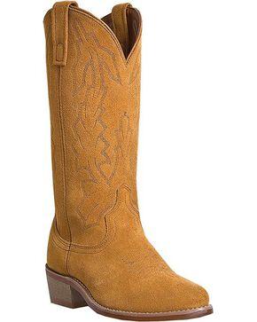 Laredo Jacksonville Suede Cowboy Boots - Round Toe, Tan, hi-res