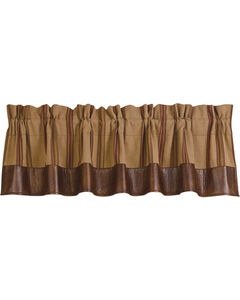 HiEnd Accents Ruidoso Brown Striped Valance, , hi-res