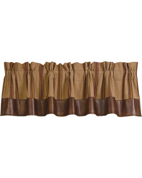 HiEnd Accents Ruidoso Brown Striped Valance, Multi, hi-res