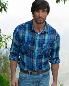 Ryan Michael Indigo Lake Travis Plaid Shirt , , hi-res
