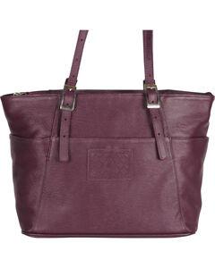 Designer Concealed Carry Plum Uptown Zip Top Tote Bag, , hi-res