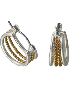 Montana Silversmiths Gold Rope Hoop Earrings, Multi, hi-res