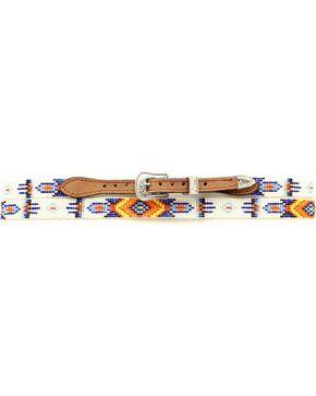 Aztec Beaded Hat Band, Med Brown, hi-res