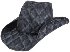 Peter Grimm Arlie Quilted Cowboy Hat, Black, hi-res