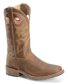 Double H Men's Western Work Boots - Steel Toe, Canyon, hi-res