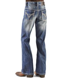 Rock & Roll Cowboy Boys' BB Gun Distressed Vintage Boot Cut Jeans, , hi-res