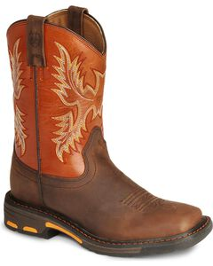 Ariat Youth Boys' Earth Workhog Cowboy Boots, , hi-res