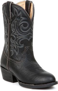 Durango Boys' Black Cowboy Boots - Round Toe, , hi-res