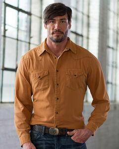 Ryan Michael Men's Goldenrod Textured Stripe Silk Shirt , , hi-res