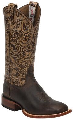 Tony Lama Brown Saigets Cowgirl Boots - Square Toe, , hi-res