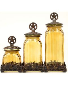 Western Moments Silverado Western Star Canisters - Set of 3, , hi-res