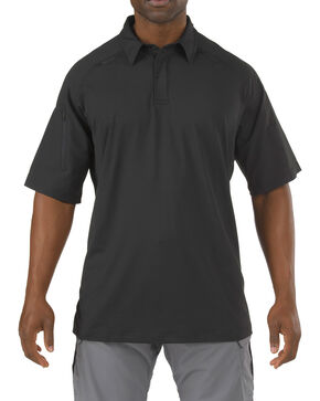 5.11 Tactical Rapid Performance Short Sleeve Polo Shirt, Black, hi-res