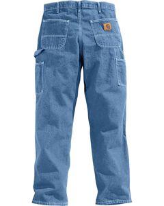 Carhartt Washed Denim Original Fit Work Dungaree Jeans, , hi-res