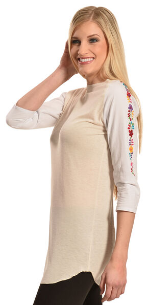 Boho Jane Women's Carmalita Baseball Tee, Natural, hi-res