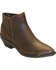 Abilene Women's Brown Demi Zipper Boots - Snip Toe , , hi-res
