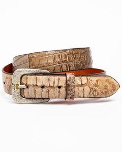 Lucchese Men's Burnished Hornback Caiman Leather Belt, , hi-res