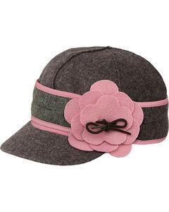 Stormy Kromer Women's Charcoal & Pink Petal Pusher Cap, , hi-res