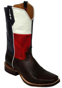 Twisted X Red River Texas Flag Cowboy Boots - Square Toe, , hi-res