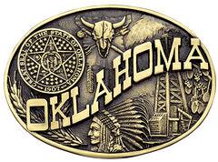 Montana Silversmiths Oklahoma State Heritage Attitude Belt Buckle, , hi-res