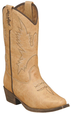Blazin Roxx Girls' June Zipper Cowgirl Boots - Snip Toe, Tan, hi-res