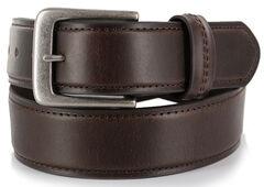 American Worker Men's Brown Leather Belt, , hi-res