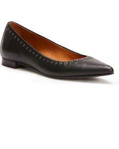 Frye Women's Black Sienna Micro Stud Ballet Flats - Pointed Toe, , hi-res