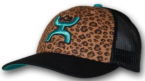 HOOey Women's Cheetah Mesh Back Cap, Black, hi-res