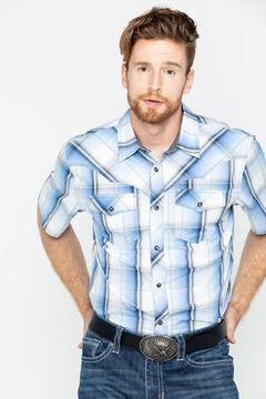Cody James Men's Block Plaid Short Sleeve Shirt, , hi-res