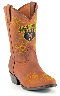 Gameday Boots Girls' Baylor University Western Boots - Medium Toe, , hi-res