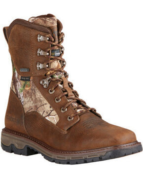 Ariat Men's Insulated Conquest Waterproof Hunting Boots - Square Toe, Brown, hi-res